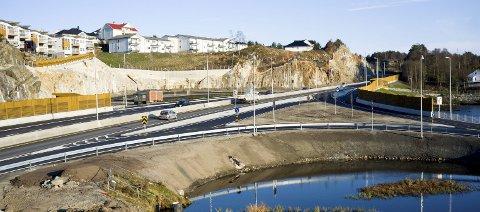 TYSVÆR: Førrestjørna, et av veiprosjektene i Haugalandspakken, ble åpnet i april 2016.