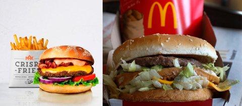 HVILKEN ER BEST: Max-burgeren eller McD-burgeren?