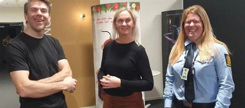 TEAM: Ungdomsteamet i Vest-Lofoten, Håkon Nordberg, Renate Eltoft og Rebekka Laanke.