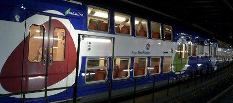 Slik kan togene på Østfoldbanen se ut om forslaget går igjennom.