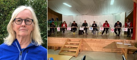 DEBATT: Anna Birgitte Fyhn er skuffet over at partiet ikke sendte en stortingsrepresentant.