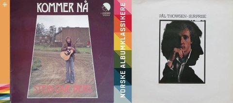 PÅ VEI TIL CD: Stein Ove Bergs «Kommer nå» er ferdigfinansiert og på vei til trykkeriet, mens Pål Thowsens «Surprise» er i folkefinansieringens hender. Illustrasjon: HES & Falck