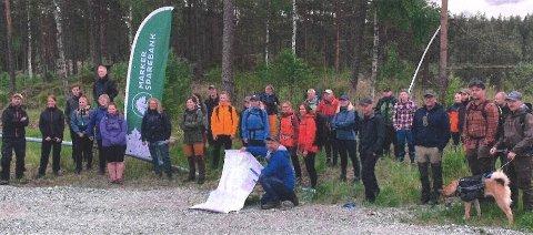 Her er turdeltakerne klare for å ta fatt på den første etappen under fjorårets «59 grader nord».