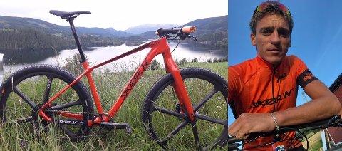 Skør'n: Frederik Wilmanns nye sykkel fra Skør'n, og rytteren selv.