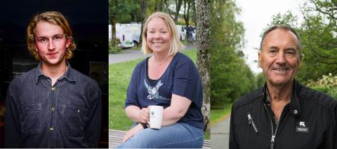 SPENNING: Alexander Nilsson (t.v) og Rødt sikret seg ett ekstra mandat med 5 stemmer mer enn Maria-Therese Jensen og Venstre. Odd Vangen (Sp) er i faresonen for å miste ett av partiets fire mandater.