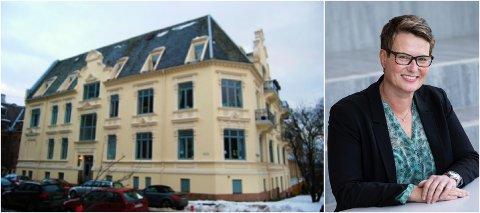 RENOVASJON: Denne bygården på Skillebekk får 1,35 millioner til å totalrenovere taket. Tine Sundtoft, styreleder i Kulturminnefondet, forteller at de prioriterer prosjekter med en klar oppstart og og en klar slutt.