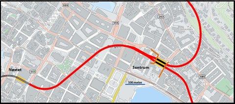 Her er konseptet Høyre, Frp, MDG, SP og Rødt vil vurdere videre: Et gigantisk underjordisk stopp.