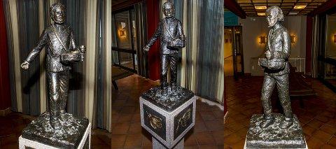 Statuen «Såmannen» ble igjen i Rolvsøy rådhus da de fleste ansatte flyttet ut ved kommunesammenslutningen. Styret for Hauge-jubileet vil flytte den til et godt synlig sted i Fredrikstad.