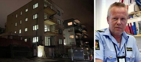 ANMELDER BYGGEFIRMA: Politiet aksjonerte mot denne byggeplassen i Håreks gate i starten av januar. Vi har mottatt anmeldelse på byggefirmaet, sier seksjonsleder for etterforskningsavdelingen ved Narvik politistasjon, Jostein Kroken.