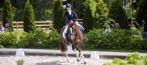 Konkurranse og stell:  Linda Berg (nederst) driver med dressur, og fascineres av hva hun kan lære en hest. Geir Gulliksen (øverst t.v.) driver med hest på grunn av konkurransene, mens Synne Sørensen (i midten) synes det er stas å stelle dyret. Catrine Finstad Andersen har ansatt Linda Berg (t.h.) i en jobb det er stor rift om.