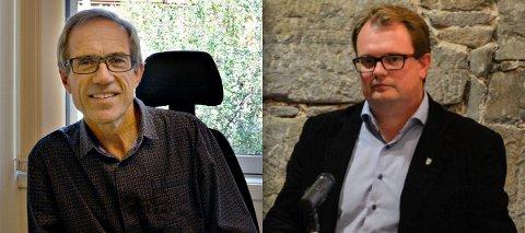 Søker etter arvtagere: Terje Halland (t.v.) blir pensjonist og Kristoffer Grette har gått over i en annen stilling i kommunen.