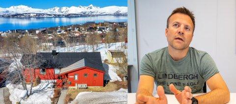 BYGGEPLANER: Direktør Roger Karlsen har store planer for Nansenvegen 27. Nå håper han noen biter på tilbudet om det røde huset han gir bort.