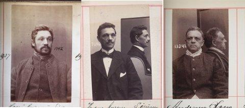 Jevnaker-mannen Hans Andersen fotografert i forbindelse med fengsling i 1885, 1902 og mellom 1913-1915 - kort tid før han døde.