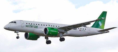 Embraer 190 E2 med inntil 130 seter til flyplassene på Helgeland
