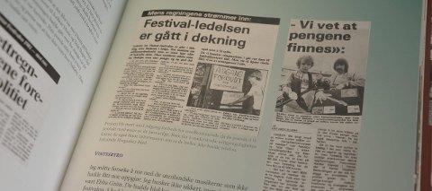 Bred dekning: Festivalen fikk bred dekning i media, og mange utklipp er med i boka. Det er også bilder og annen dokumentasjon.