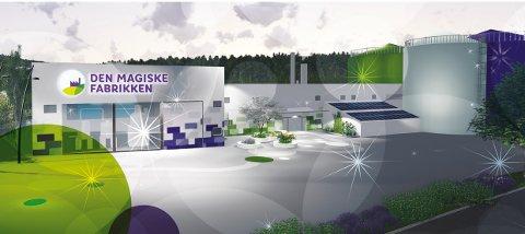 DEN MAGISKE FABRIKKEN: Biogassanlegget Den Magiske fabrikken åpnet utenfor Tønsberg i fjor høst, og behandler også matavfall fra drammensdistriktet.