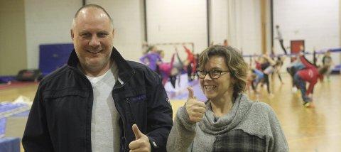 SPENTE: Stig Johnsrud og Heidi Stenmyren fra KIL Turn står snart i spissen for klubben største arrangement hittil.