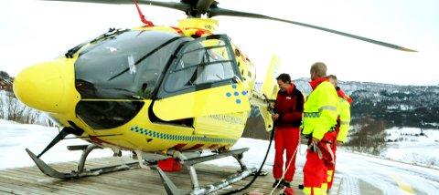 HEKTISK: Travel påske. Mandag ble en person fløyet til Ålesund etter en skiskade i alpinanlegget på Bjorli. Foto: Vidar Heitkøtter
