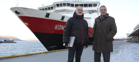 SAMMEN: Trond Nygård og Kurt Jessen Johansson ser fram til et bredt havnesamarbeid på Helgeland. Foto: Jarl G. Sandholm