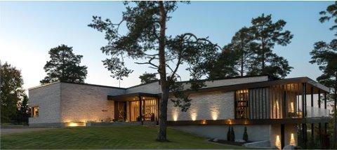 TENKT FASADE: Dette bildet illustrerer tenkt fasade på det nye huse, men det er ikke ferdig tegnet.