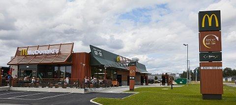 RUGTVEDT: En slik restaurant skal McDonald's bygge på Stokkevannet næringspark på Rugtvedt i Bamble. Planen er å bygge slik at nysatsingen kan åpnes i løpet av året.