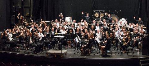 Generalprøve: Onsdag denne uka hadde Lillestrøm musikkorps gratiskonsert og generalprøve i Lillestrøm kultursenter.  FOTO: VIDAR SANDNES