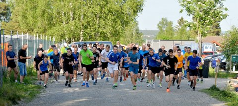 MANGE: Det var hele 66 personer som deltok i Torsdagsløpet denne uken. :