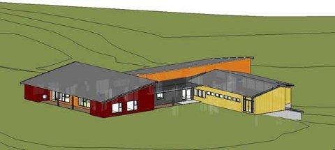 FAGERLUND BARNEHAGE: Ny barnehage på tomta til Fagerlund barneskole, tegnet av SG Arkitektur as