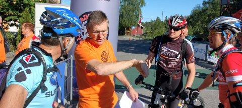 HOLDER KOKEN: Paul Rief i Hadeland CK håper på 800 deltakere i årets ritt. Arkivffoto