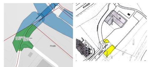 TEGNING: Areal som Gran kommune skal selge er del av gnr. 77/206 og er regulert til boligformål.