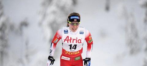 IKKE HELT FORNØYD: Vestfossenjenta Helene Marie Fosseshom gikk et flott løp, men var ikke helt fornøyd. Foto: Vesa Moilanen / Lehtikuva / NTB