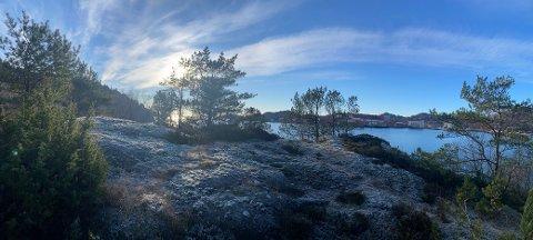 UTSIKT OG NATUR: På denne knausen i Rosshagen på Hestneshalvøya ønsker Eigersund kommune å bygge ei dagsturhytte.