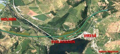 SLIK: Kanskje blir det nye krysset på Svelaodden på Vikeså seende slik ut? illustrasjonen er utarbeidet av Bjerkreim næringsforening.