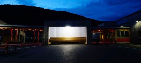 MILJØVENNLEG: LED-lampa i kunstinstallasjonen «Solverv» er kanskje Norges sterkaste lampe med 300 watt. Det vil tilseie 3000 watt i ei gamaldags lampe.