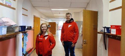 SFO: SV vil ha gratis SFO. Det er en av valgkampsakene, forteller Åshild Pettersen og Vegard Lind Jæger i SV.