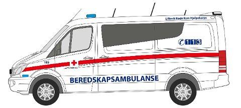 BEREDSKAPSAMBULANSE: Slik vil de nye ambulansene se ut. Det er de frivillige organisasjonene som vil kjøre disse.