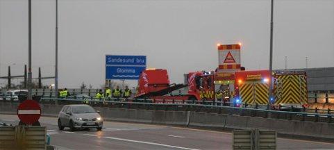 Ulykken på E6 har skjedd like ved påkjøringen ved McDonalds.