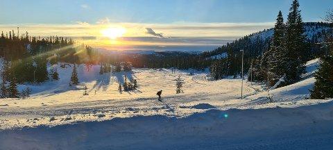STRØKENT: Den nye skistadion på Vegglifjell byr på topp forhold.