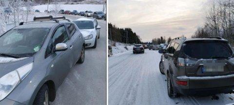 BOT: Trondheim parkerings bilder fra Jonsvatnet i helga som var. Elleve sjåfører fikk en gul lapp i ruta søndag.