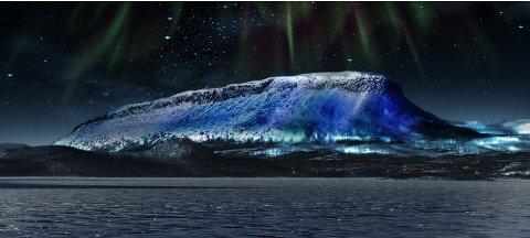 SLIK BLIR DET: Saana-fjellet blir seende slik ut 4. og 5. desember.
