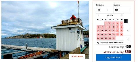 På noen av hyttene til Oslofjordens Friluftsråd begynner det å bli fullt i kalenderen. Se bare på Startbua på Hvasser i juli ...