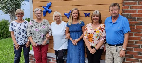 Pårørendegruppe Hov Øst: Denne gjengen vil tale for interessene til beboerne på Hov Øst. Kristin Haugen (fra venstre), Laila Skollerud, Heidi Berg, Victoria Nyquist, Kristin Rundtop og Knut Rundtop.