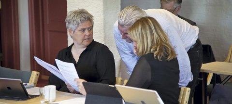 UENIGE: Heidi Sorknes (t.v.) er sterkt uenig med Aps Ivar Granum (midten) om å trekke seg ut av RfD. Arkivfoto: Henning Jønholdt
