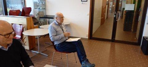 Kommuneoverlege i Sandnes Hans Petter Torvik under dagens pressekonferanse.