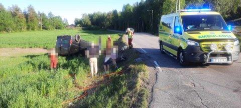 UTFORKJØRING: Det var én person i bilen da ulykken skjedde.