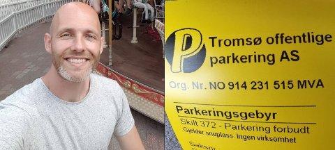 - DÅRLIG TILBUD: Erlend Berg Kristiansen mener det er et dårlig tilbud på parkeringsplassen på Charlottenlund