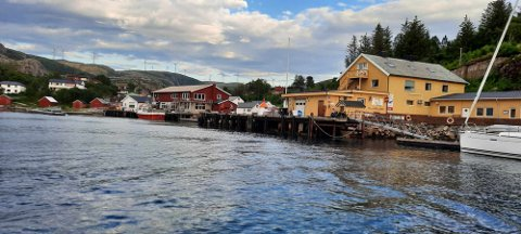 LEGGER TIL HER: Denne kaia er den eneste i Trøndelag det staselige 48 meter høye seilskipet legger til. Innslag på NRKs sakte-TV blir det også.