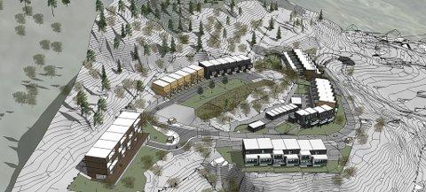 OVERSIKT: Slik ser den nye planen ut for siste del av byggefeltet på Falkenstein. Teikning: Bo Arkitekter AS.