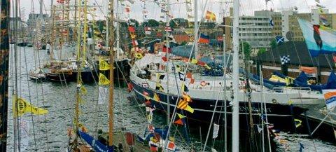 AVVIKLES PARALLELT: Samtidig med Aalborglekene arrangeres «Tall Ships Races» i Aalborg. Foto: Trond Thorvaldsen