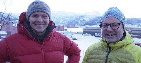 Optimister: Mikkel Pedersen og Stig Winther har tro på at det skal være mulig å bygge opp en betydelig omsetning knyttet til skipene som anløper Narvik. Januar har i hvert fall gitt en lovende start på 2019. Foto: Terje Næsje
